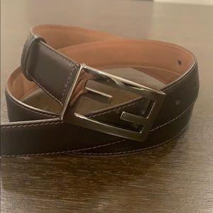 Fendi FF Belt Brown Size 90